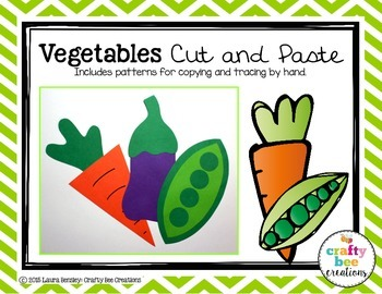 Vegetables Cut and Paste