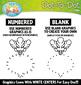 Vegetables Dot-To-Dot Clipart {Zip-A-Dee-Doo-Dah Designs}