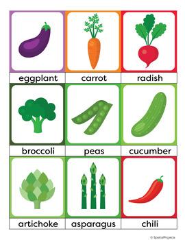 Vegetables ESL Newcomer Activities