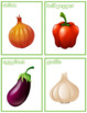 Vegetables Flash Cards; Kindergarten; Preschool; Homeschool; Bulletin Board