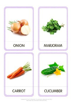 Vegetables Flash Cards, Printable Cards, Flashcards for Kids, Kindergarten cards