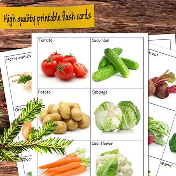 Vegetables Flashcards (vocabulary flash cards)