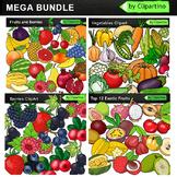 Vegetables & Fruits Clip Art Bundle
