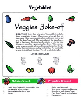 Vegetables Game & Activity