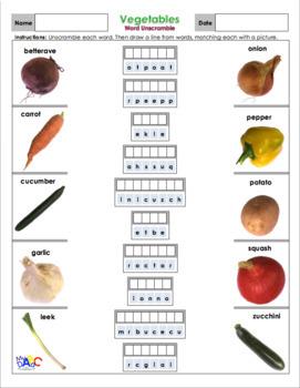 Vegetables | Légumes ACTIVITY Worksheets and Games for Kids