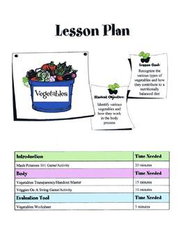 Vegetables Lesson
