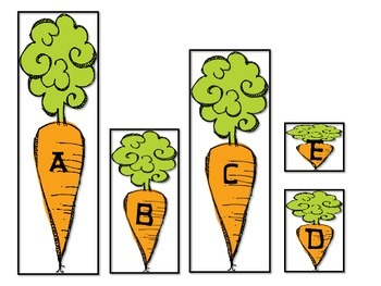 Vegetables, Plants and Tops and Bottoms-Kindergarten