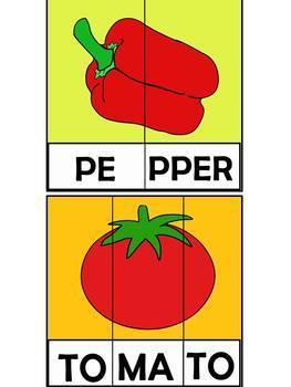 Vegetables Printable Pack