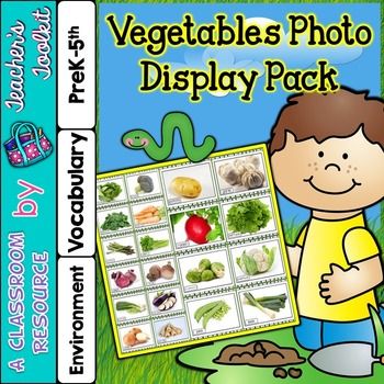 Vegetables Printable Photo Poster Display Pack {UK Teachin