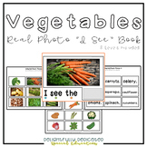 "Vegetables Real Photo ""I See"" Book for Special Education Classrooms"
