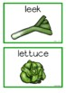 Vegetables Picture Cards (Making a Salad)