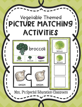 Vegetables Themed Picture Matching Activities