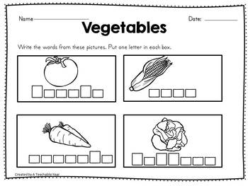 Vegetables- Vocabulary Pack