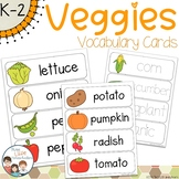 Vegetables Vocabulary Word Wall Cards plus Write and Wipe Version