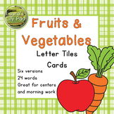 Fruit and Vegetables Word Letter Tiles Cards