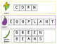 Fruit and Vegetables Word Letter Tiles Cards