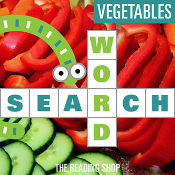 Vegetables Word Search - Primary Grades - Wordsearch Puzzle