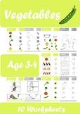 Vegetables Worksheets Age 3-4