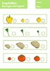 Vegetables Worksheets Age 4-5
