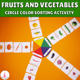 Vegetables and Fruits Color Sorting Circle