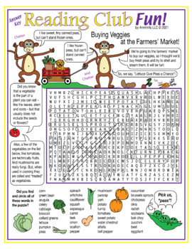 Vegetables at the Farmers' Market Word Search Puzzle
