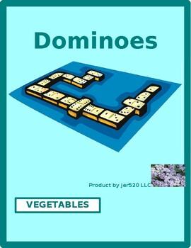 Vegetables in English Dominoes