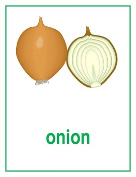 Vegetables in English Posters