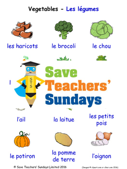 Vegetables in French Worksheets, Games, Activities and Flash Cards (1)