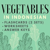 Vegetables in Indonesian (Flashcards & Worksheets for Clas