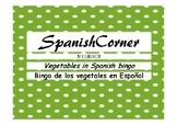 Vegetables in Spanish Bingo