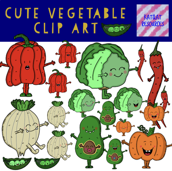 Vegetables set 2 clip art