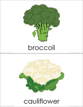 Vegetables (set I) Picture Flashcards