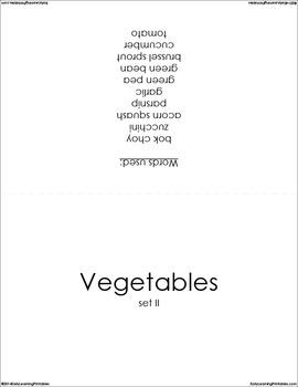 Vegetables (set II) Picture Flashcards