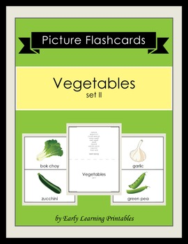 Vegetables (set II) Picture Flashcards