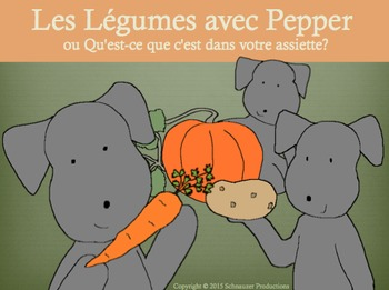 Vegetables with Pepper in French