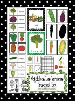 Vegetables/Las Verduras Preschool Pack