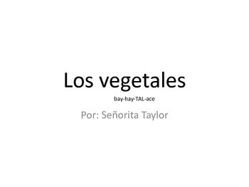 Vegetales/Vegetables - Early Spanish Reader for Emergent and Young Learners