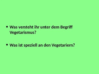 Vegetarians / Vegans / Raw-food