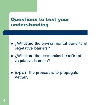 Vegetative barriers and Hillside ditch / Bundle