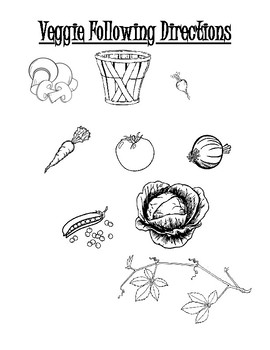 Veggie Following Directions Worksheet