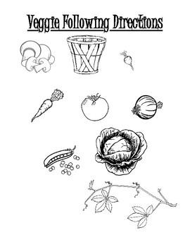 Veggie Following Directions Worksheet