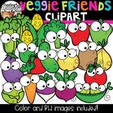 Veggie Friends Clipart {Happy Food Clipart}