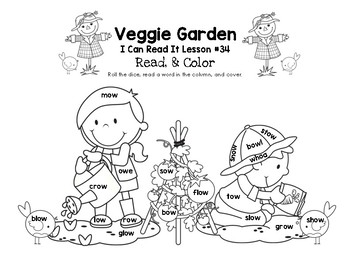 Veggie Garden - I Can Read It! Roll, Read, and Cover (Lesson 34)
