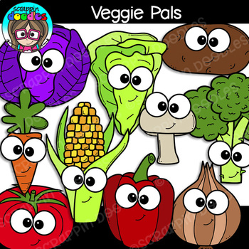 Veggie Pals Clipart {Scrappin Doodles Clipart}