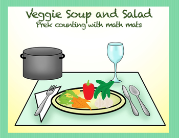 Veggie Soup or Salad Counting Mats