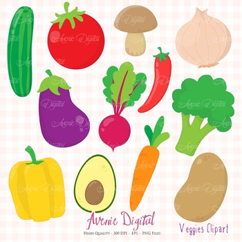 Veggies Clipart Scrapbook Commercial Use Cute Vegetables Healthy Food Graphics
