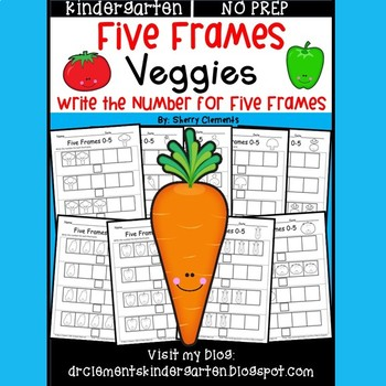 Veggies Five Frames by Sherry Clements | Teachers Pay Teachers