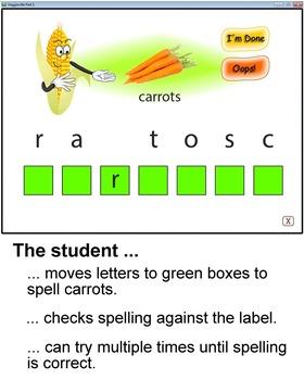 Veggieville Part 1:  A Fun Way to Practice Spelling (PC)
