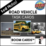 Vehicle BOOM Cards™ Task Cards - Road - Real Photos!