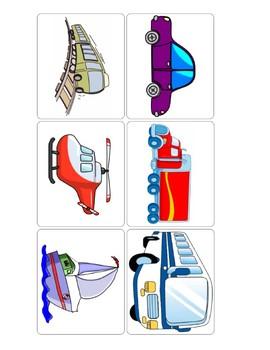Vehicle Flashcard Bundle